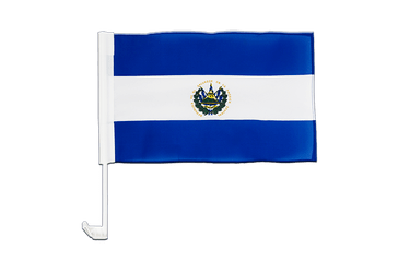 El Salvador Car Flag 12x16""