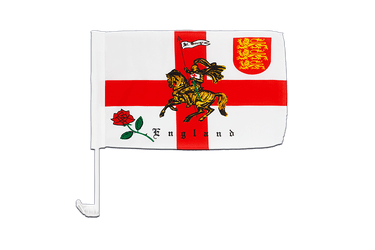 England with knight - Car Flag 12x16""