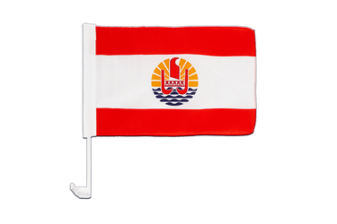 France French Polynesia Car Flag 12x16""