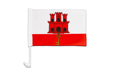 Gibraltar Car Flag 12x16""