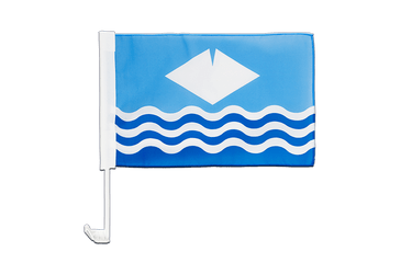 Drapeau de voiture Isle-of-Wight 30 x 40 cm