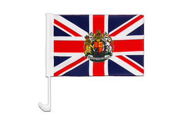 Great Britain with crest Car Flag 12x16""