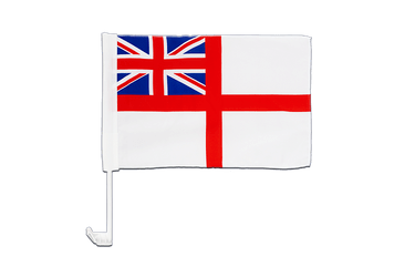 Naval Ensign of the White Squadron Car Flag 12x16""