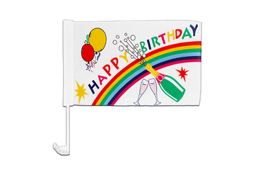 Drapeau de voiture Happy Birthday 30 x 40 cm