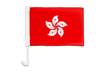 Hong Kong  Car Flag 12x16""