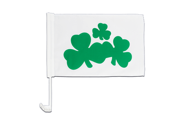 Shamrock Car Flag 12x16""