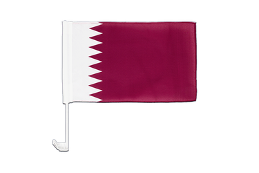Qatar Car Flag 12x16""