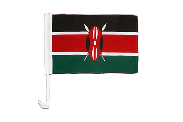 Kenya Car Flag 12x16""