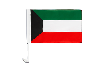 Kuwait Car Flag 12x16""