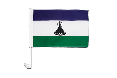 Lesotho new Car Flag 12x16""