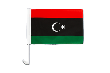 Kingdom of Libya 1951-1969 Opposition Flag Anti-Gaddafi Forces - Car Flag 12x16""