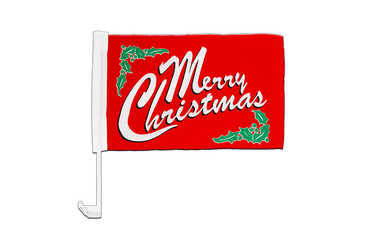 Merry Christmas - Car Flag 12x16""