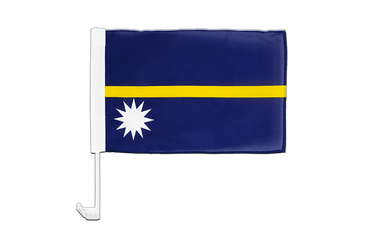 Nauru Car Flag 12x16""