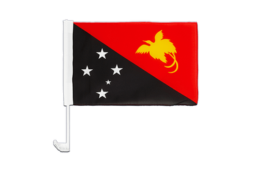 Papua New Guinea Car Flag 12x16""