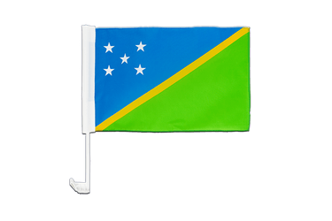 Solomon Islands Car Flag 12x16""