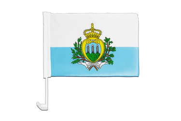 San Marino Car Flag 12x16""