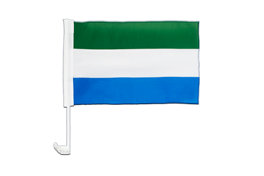Sierra Leone - Car Flag 12x16""
