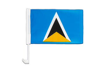 Saint Lucia Car Flag 12x16""