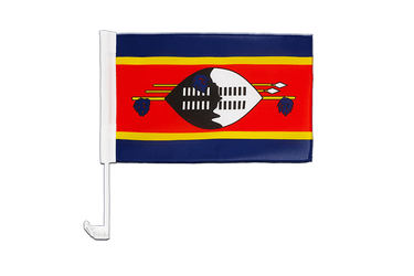Swaziland Car Flag 12x16""