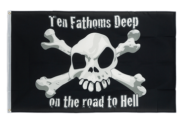 Pirate Ten Fathoms Deep 3x5 ft Flag