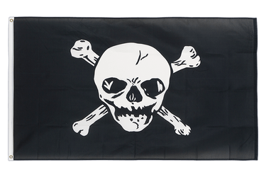Drapeau Pirate grand crâne 90 x 150 cm
