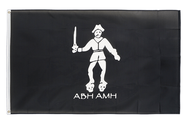 Pirate Black Bart Roger 3x5 ft Flag