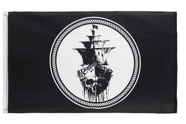 Pirate Black Sea 3x5 ft Flag