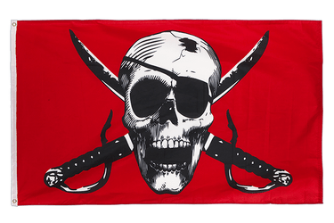 Crimson Pirate 3x5 ft Flag