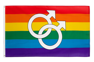 Rainbow Gay Mars Men Large 3x5 ft Flag