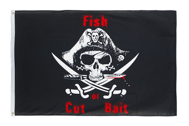 Pirat Fish or cut bait Flagge 90 x 150 cm