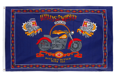 Harleys and Whiskey 3x5 ft Flag