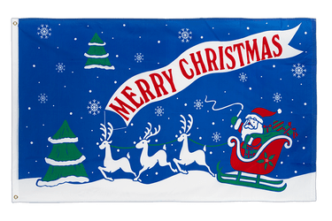 Merry Christmas Sleigh 3x5 ft Flag
