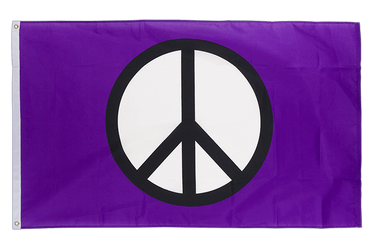 Peace purple 3x5 ft Flag