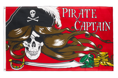 Pirate Female Captain 3x5 ft Flag