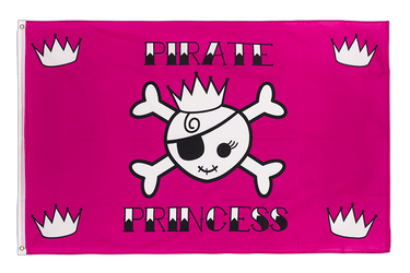 Drapeau Pirate Princesse 90 x 150 cm
