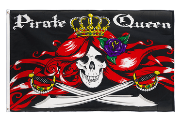 Drapeau Pirate Queen 90 x 150 cm