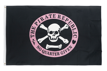 Pirate Republic pink 3x5 ft Flag