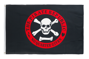 Drapeau Pirate république rouge 90 x 150 cm