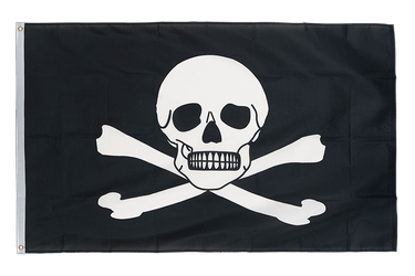 Drapeau Pirate Attention toxique 90 x 150 cm