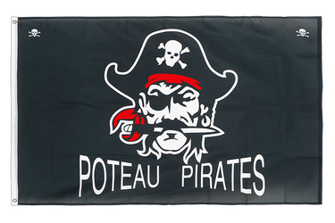 Drapeau Pirate Poteau Pirates 90 x 150 cm