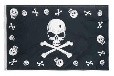 Pirate Bones and skulls 3x5 ft Flag