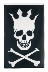 Pirate Skull with crown 3x5 ft Flag
