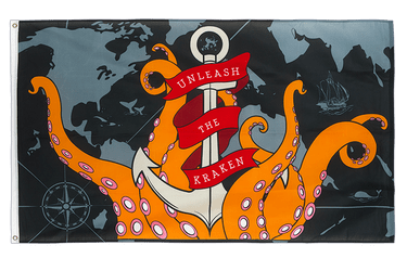 The Kraken 3x5 ft Flag