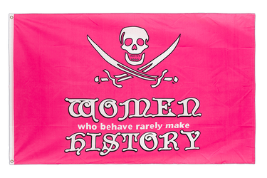 Drapeau Pirate Women in history rose 90 x 150 cm