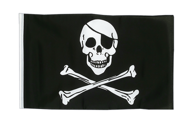 Pirate Skull and Bones 12x18 in Flag
