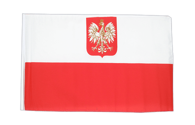 Poland with eagle - 12x18 in Flag