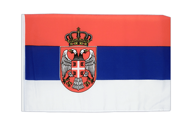 Serbia with crest 12x18 in Flag