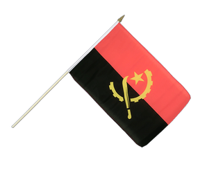 Angola Hand Waving Flag 12x18""