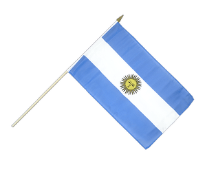 Argentina - Hand Waving Flag 12x18""