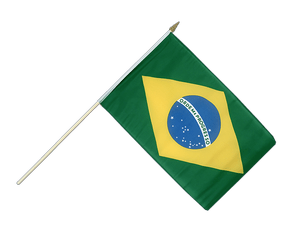 Brazil Hand Waving Flag 12x18""